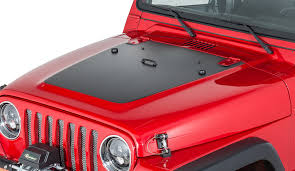 mountain jeep decals quadratec 13135 1100 premium vinyl hood blackout decal for 97 06