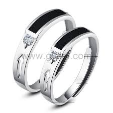 2 wedding bands adjustable size rings custom names wedding couples bands for two