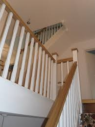 Oak Banister White Oak Staircases 2 Paint Out Some Of The Oak In White Zzz