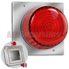 wall mount strobe light strobe light with mounting plate for recessed aed cabinets