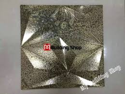 3d metal mosaic tiles kitchen backsplash tiles smmt076 brass