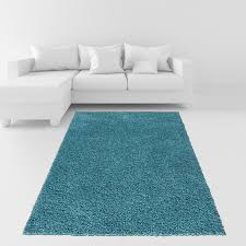 amazon com soft shag area rug 3x5 plain solid color turquoise