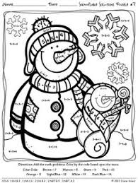 bunch ideas of color by number worksheets winter about resume