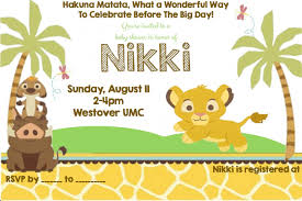 top 14 disney lion king baby shower invitations for your
