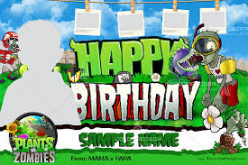 free plants vs zombies birthday psd template coldfiredsgn
