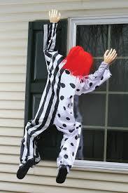 killer clown 5 u0027 creepy climbing clown window siding hanging