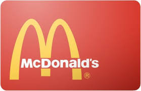mcdonalds e gift card 7 mcdonalds 50 preowned gift card