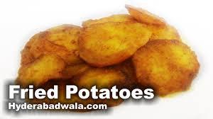 fried potatoes recipe video u2013 hyderabadi tale hue aalu for