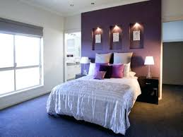 light purple accent wall dark purple accent wall bedroom interior white rod pocket curtains