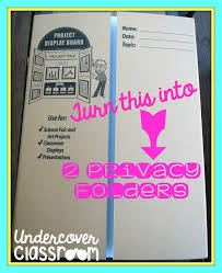 undercover classroom do it yourself privacy folders