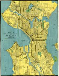 Seattle Rail Map by Historical Map Kroll U0027s Standard Map Of Seattle Transit Maps