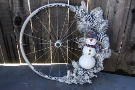 christmas wreaths made with bicycle bits total wom