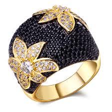 big ladies rings images Fashion jewelry ladies big ring setting black and white cubic jpg