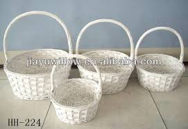 baskets for gifts 4pcs wholesale white wicker baskets for gifts view white wicker