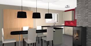 cuisine et salle a manger adorable deco cuisine americaine salle manger vue chemin e at