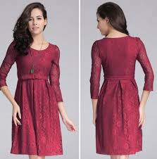 knee length dress for women online