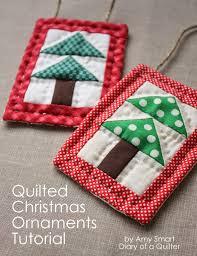mini christmas tree quilt ornament tutoial christmas trees
