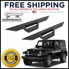 black jeep 2 door ici magnum rt black step nerf bars 2007 2017 jeep wrangler jk 2