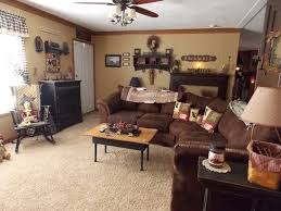 primitive decor living room manufactured home decorating ideas