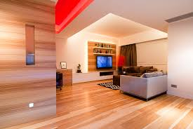Wood Living Room Interior Design Ideas - Wood living room design