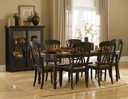 dining room black set sets for rent 42 with leaf bench buffet