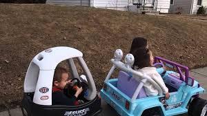 power wheels jeep frozen riding ate angel u0027s power wheels disney frozen jeep wrangler youtube