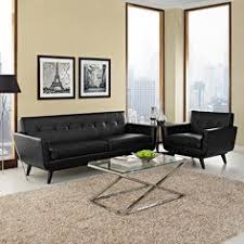 Black Leather Living Room Sets by Lexmod Engage Left Facing Sectional Sofa In Expectation Gray