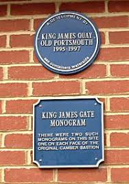 Monogram Plaques Memorials And Monuments In Old Portsmouth Monogram Of King James Ii