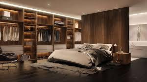 une chambre à coucher photo une chambre aux tons masculins