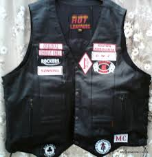 leather waistcoat biker motor bike jackets badges u0026 patches stitched on sew on patches