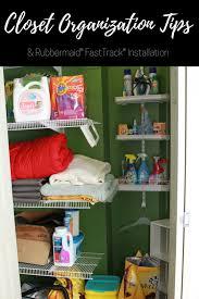 closet organization tips installing rubbermaid fasttrack a