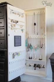 Jewelry Cabinets Wall Mounted by Diy Jewelry Organizer Shanty 2 Chic