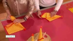 napkin folding for thanksgiving dinner video 3 napkin folds for your holiday dinner martha stewart