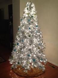 silver stardust tinsel artificial tree treetopia