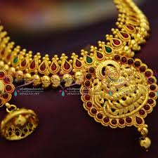 n2920 indian traditional gold design quality temple mango design
