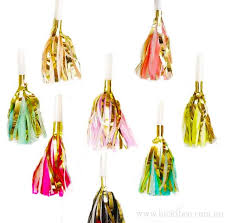 party horns tassel party horns noisemakers bickiboo designs