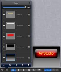 artstudio tutorial glass button with reflection