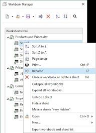 workbook manager for microsoft excel online help
