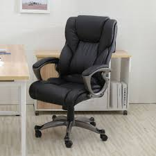 Executive Computer Chair Design Ideas Chairs Heavy Duty Leather Office Rolling Computer Chair Black
