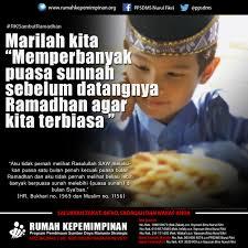 marilah kita memperbanyak puasa sunnah sebelum datangnya ramadhan