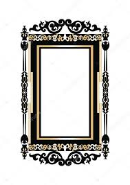 baroque golden rococo frame decor stock vector inagraur ymail