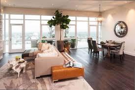Small Penthouses Design Small Minimalist Penthouse Design Interior Indoor Plant Wood Floor