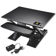 sit stand computer desk yescomusa rakuten electric height adjustable computer desk