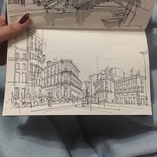 these freehand architectural sketches show a university student u0027s