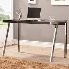Computer Desk In Black Clayton Desk In Black And Nickel Finish By Coaster 800105