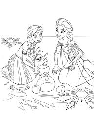 frozen coloring pages anna olaf elsa coloringstar