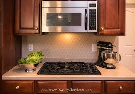 Kitchen Backsplash Diy Remodelaholic Diy Kitchen Backsplash Stencil Throughout Kitchen