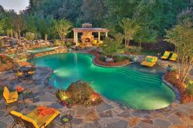 Great Pool Backyard Landscaping Ideas Swimming Pool Design Homesthetics Arafen