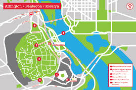 pentagon map pentagon arlington rosslyn the landscape architect s guide