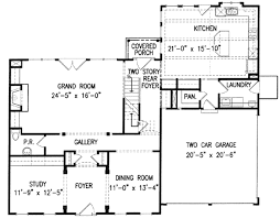 Standard Measurement Of House Plan by Colonial Style House Plan 4 Beds 3 50 Baths 2936 Sq Ft Plan 54 150